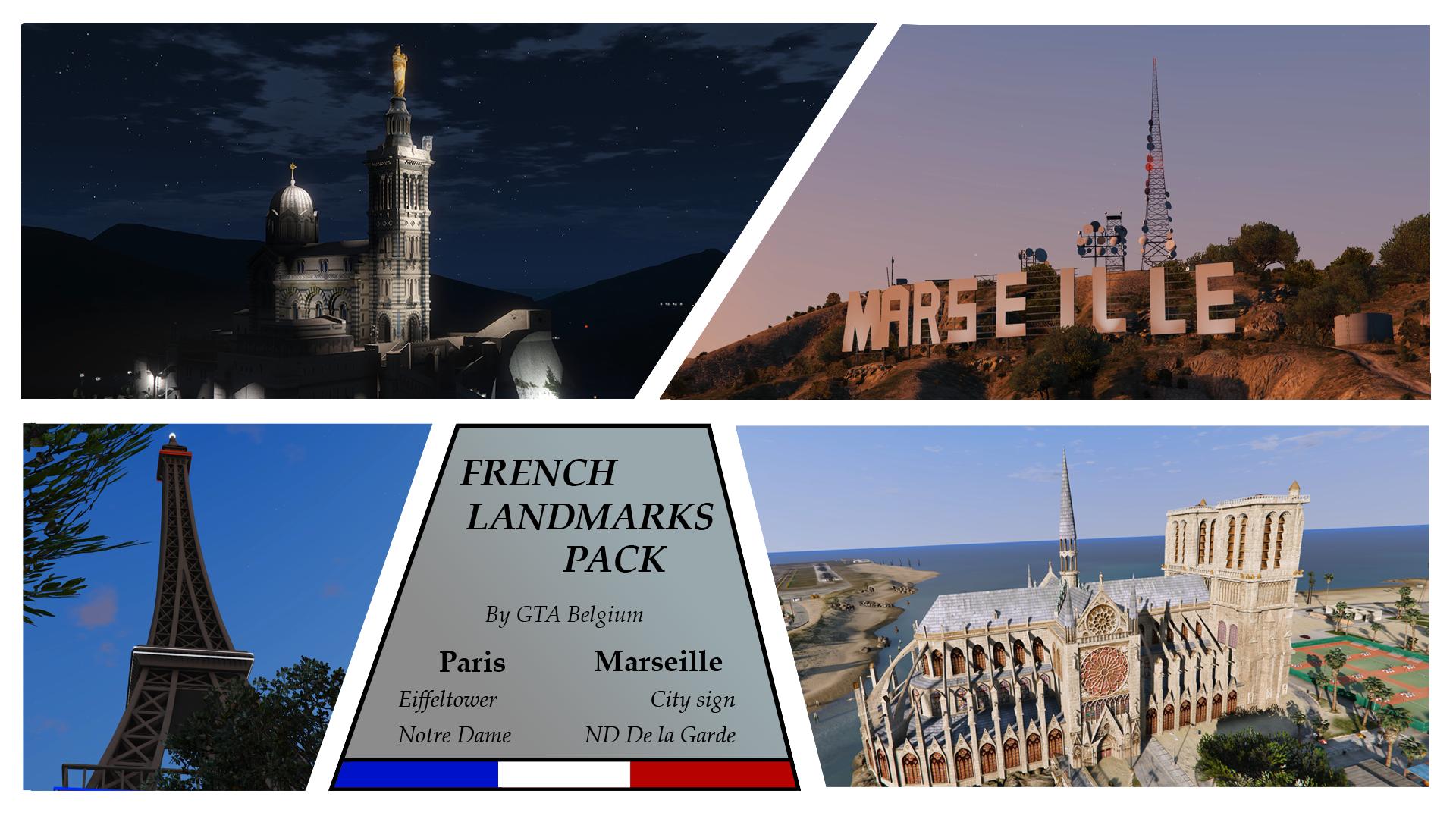 French Landmarks pack
