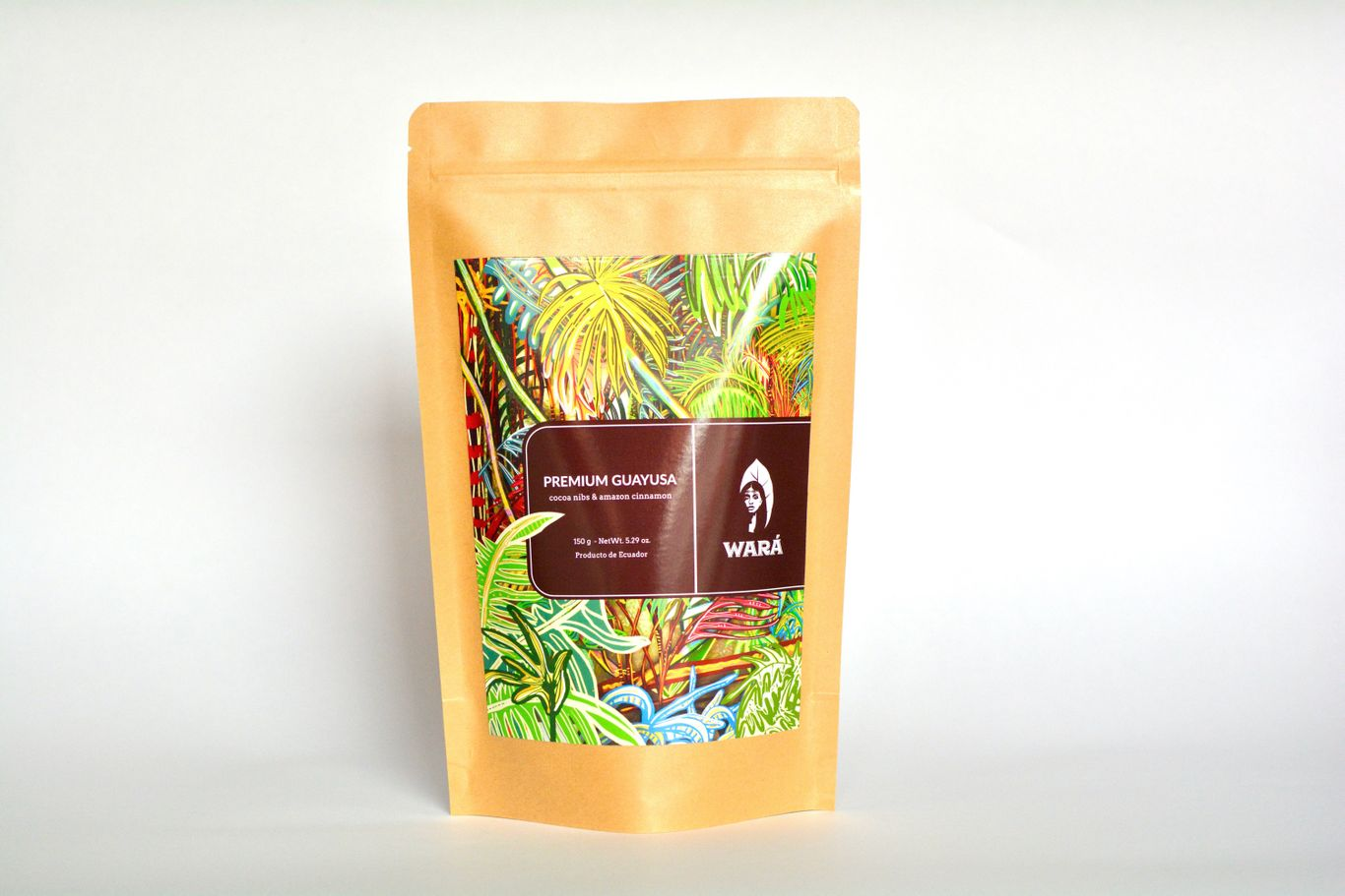 """""""Wara guayusa cacao blend in a package"""""""