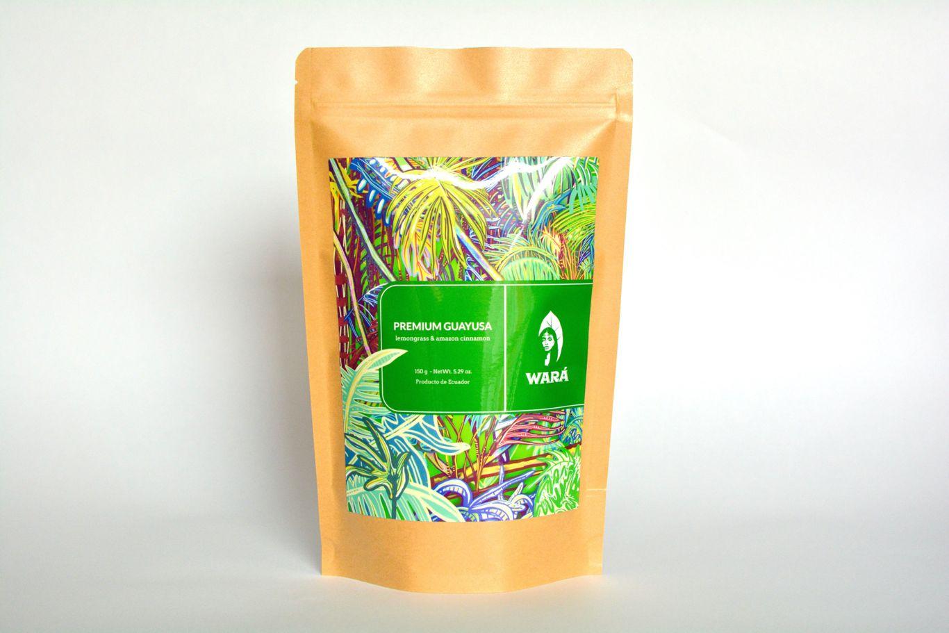 """""""Wara guayusa lemongrass blend in a package"""""""