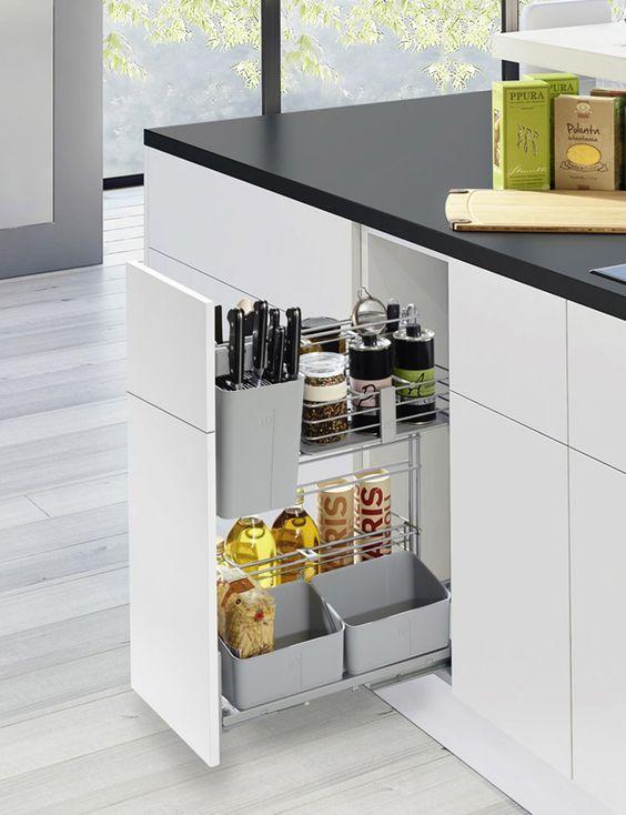 comprar carros extraibles para cocina acero metal herrajes complementos armario cocina