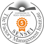 Sensei 5 Dan - Factory Management Institute Certification Badge