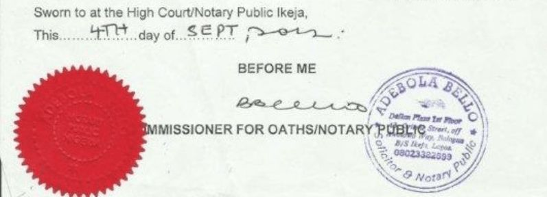 Notary public in Nigeria. How to notarize a document in Nigeria