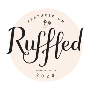 lets hair bridal hairstylist featured on the RUFFLED wedding blog