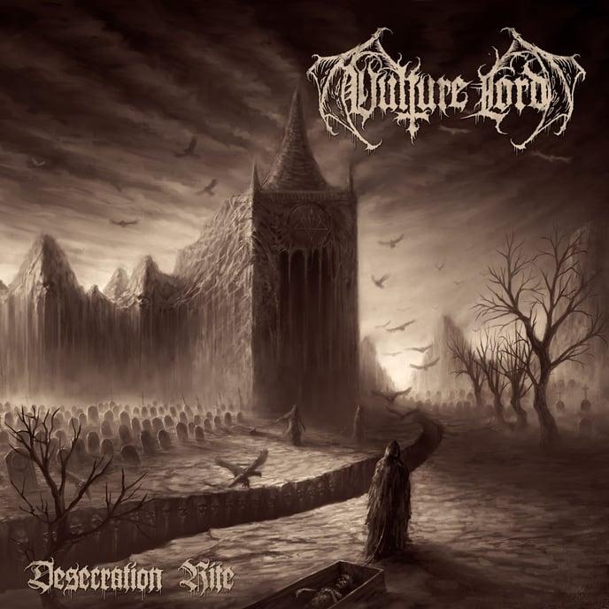 VULTURE LORD,artwork,Desecration Rite, necromancy, death,