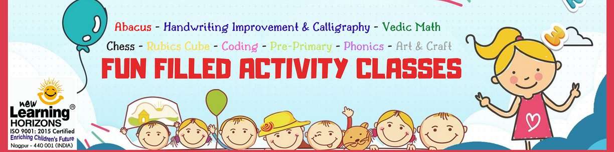 New Learning Horizons funfilled activity classes abacus handwriting calligraphy vedic math chess