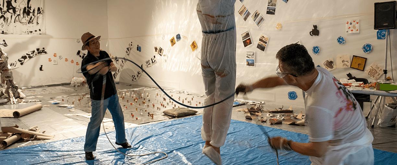 Da La Nascita di PAM progetto di Carlo Gori per il MACRO ASILO Performance di Yoshio Terajima 2019