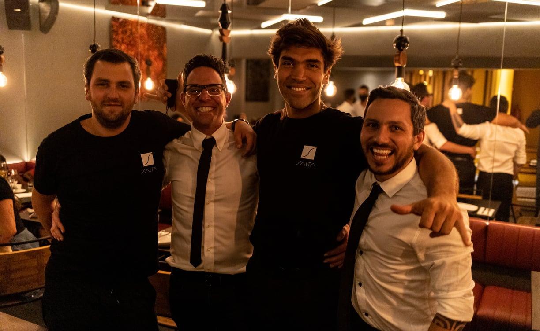 Restaurante Salta Lisboa, Tomaz Reis, Pedro Lopes, Mo Lisbona, Maurice Lisbona, Rafael Almeida