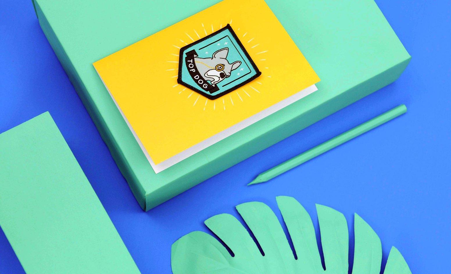 stationery evermade.com colour blocking greetings card