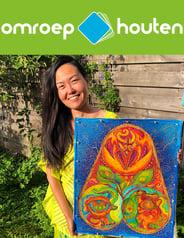 Omroep Houten, Radio interview, Shuen-Li Spirit, Batik artist, Netherlands, Nederland