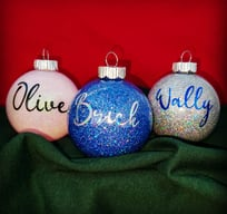DogGone Crafting custom christmas ornaments glitter personalized