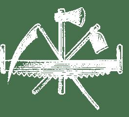 La houe, la faux, la hache, la scie passe-partout