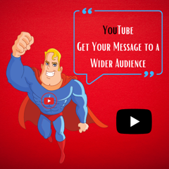 YouTube Super Hero figurine with the message to increase your audience