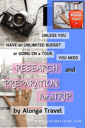 research and preparation for worry free trip
