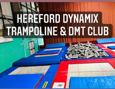 trampoline foam pit at the Hereford Leisure Centre