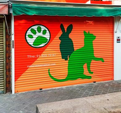 Graffitis y decoraciones en locales