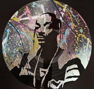 Stencil sobre vinilo Snoop Dogg