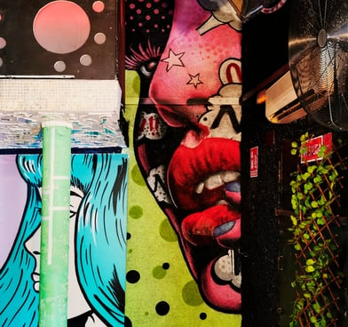 Graffiti retro discoteca Blackstar