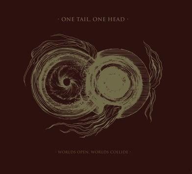 black metal nidrosian one tail one head album cover planets chaos black hole