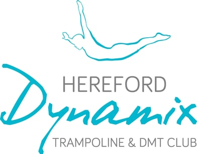 Hereford Dynamix trampoline and DMT club logo