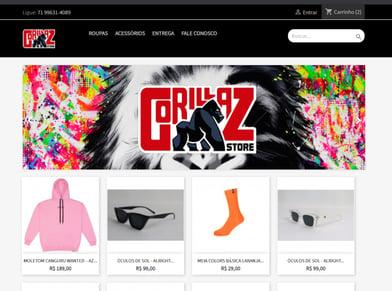 Loja virtual GoriLLaZ store 82