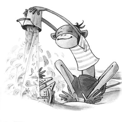 black & white illustration
