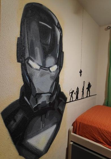 Iron man en habitación