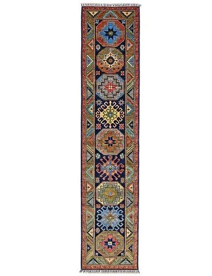 TURKMEN RUNNER  - 292cm x 62cm (9'7 x 2') - NARROW HALL RUNNERS - ARTISAN CARPET