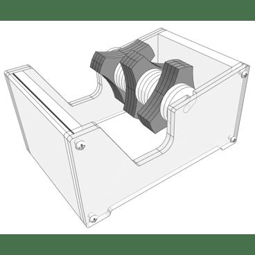 Digital mockup of the multi roll tape dispenser