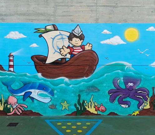 Restauración del mural