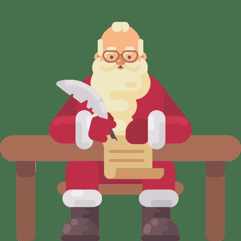 Kalėdų Senelis rašo laišką