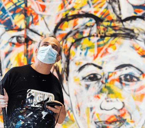 Photographic portrait of the Italian artist Carlo Gori by Stefania Pascucci 2020 Ladispoli