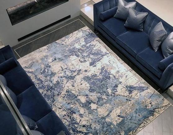 Bluesy  - 305cm x 245cm (10ft x 8ft) - Contemporary Rugs - HANDMADE RUG COMPANY
