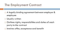Employment agreement in Nigeria