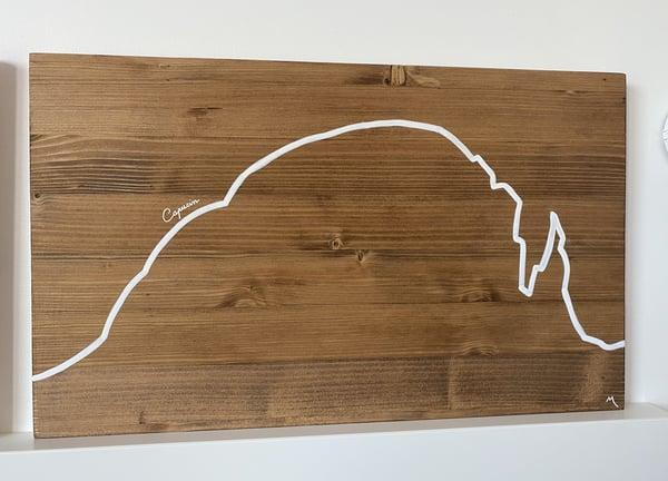 Tableau du Capucin, tableau cimaz, tableau en bois auvergne