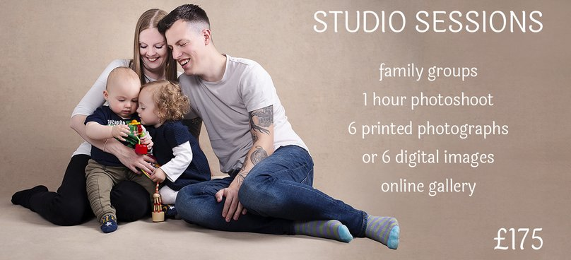 Family studio session pricing