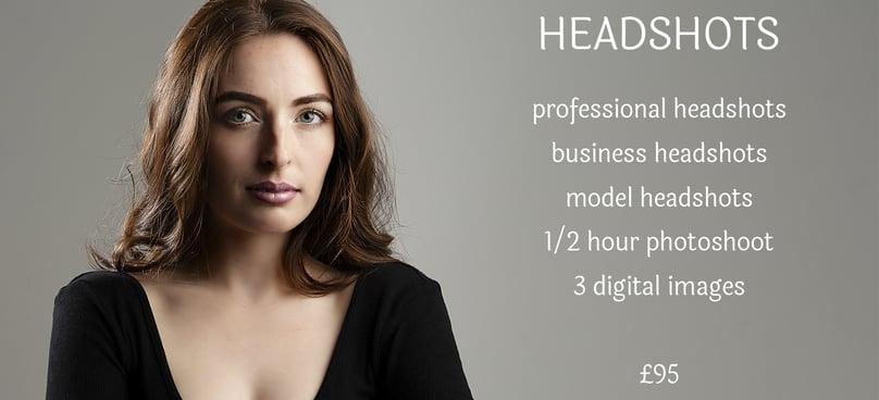 Business headshots pricing