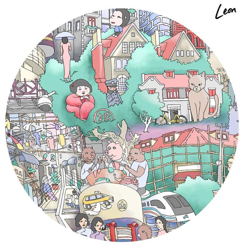 leon fenster shanghai dreaming art